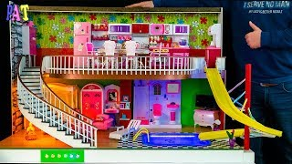 DIY Miniature Dollhouse  NEW  Room ~ SWIMMING POOL, WATER SLIDE, Kitchen, Living Room, Bedroom