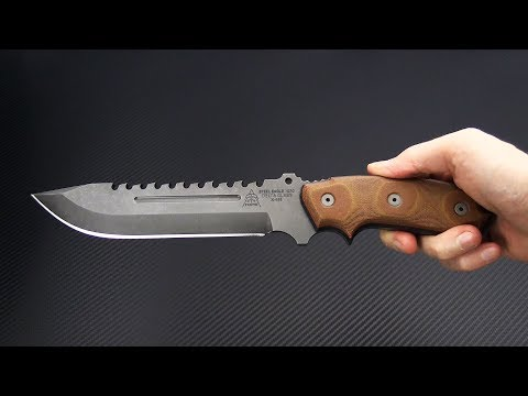 TOPS Knives Steel Eagle Delta Class Acid Rain 1095 Sandwiched Micarta