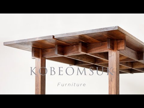Kobeomsuk furniture - Making interlocking joinery walnut table