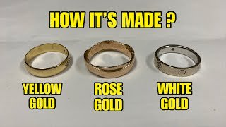 Yellow Gold, Rose Gold, White Gold- How it's Made?