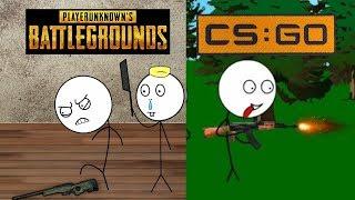 PUBG Gamer vs CSGO Gamer