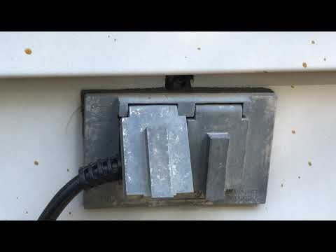Outlet Filled with Yellow Jackets in Aberdeen Township, NJ