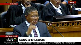 Minister Fikile Mbalula wraps up #SONADebate2019