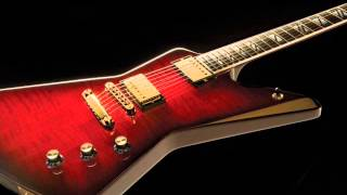 Melodious hard rock backing track in Em