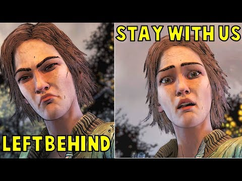 Lee LEFT Lilly Behind vs Let Her STAY With Us -All Outcomes- The Walking Dead The Final Season