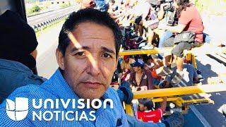 Reportero de Univision cuenta cómo vio morir a uno de los migrantes en la caravana