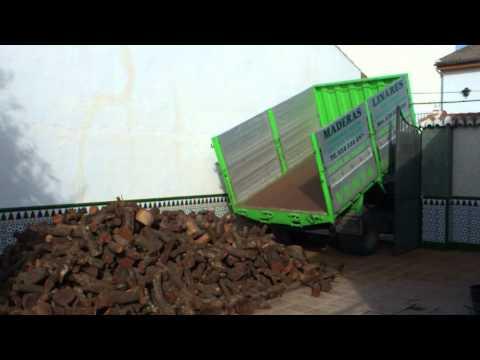 Descarga de madera de encina a domicilio en Granada, la zubia, gojar, ogijares