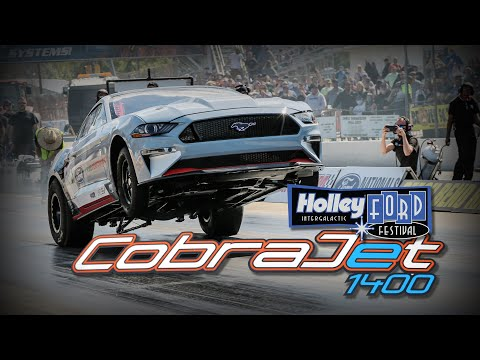 All-Electric Ford Performance Cobra Jet 1400 hits the Drag Strip at Holley Ford Fest