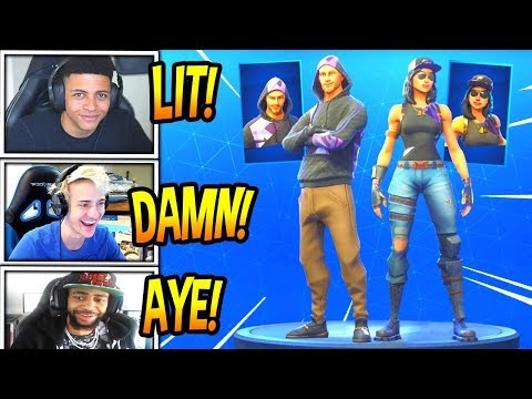 streamers react to new fortune moniker skins rare fortnite funny moments - moniker fortnite skin