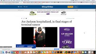 Joe Jackson In The Final Stage Of Cancer