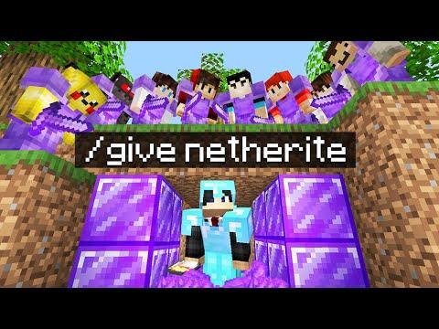 Minecraft Manhunt but i secretly used /give..