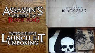 Assassin's Creed Black Flag Tattoo Sleeve Launch Kit Unboxing & Review - HD 1080p