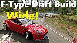 Forza Horizon 4: WIDEBODY Jaguar F-Type Drift Build! Smoothest Drift Car!?!