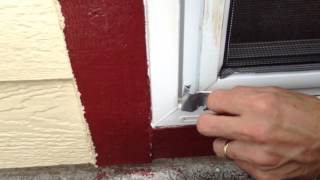 HOW TO OPEN A SCREEN DOOR WHEN YOU LOCK YOURSELF OUT