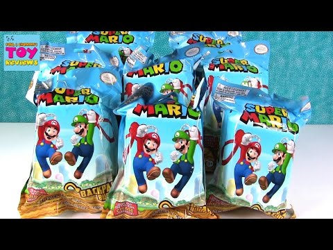 Super Mario Backpack Buddies Nintendo Blind Bag Clips Keychain Opening | PSToyReviews