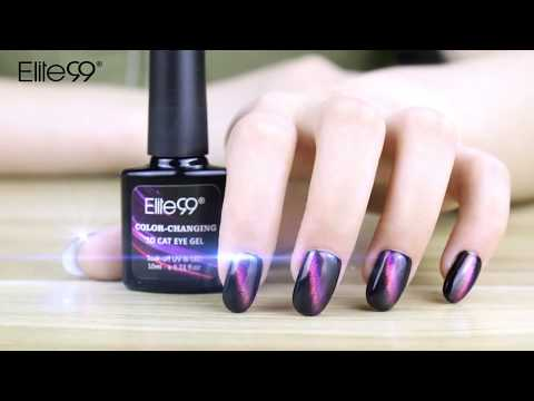 Elite99 Chameleon Color-changing Cat Eye Line Gel Nail Polish