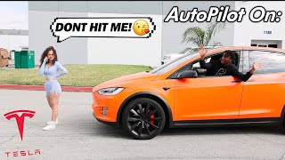 Will Tesla Autopilot Run over HOT Instagram Model? The 5 Star Tesla Experiment