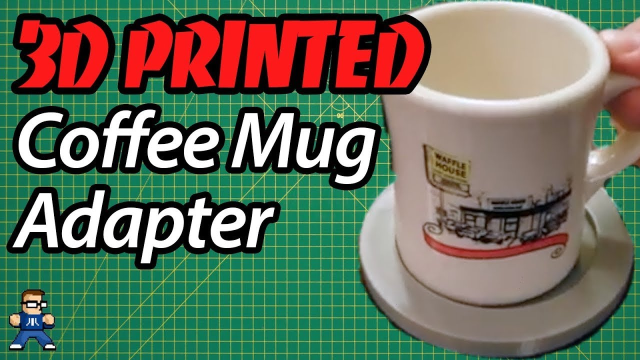 3D Printing a Coffee Mug Cupholder Adapter