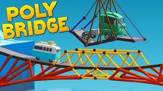 When You Run Out Of Roads So Build A Swing in Poly Bridge
