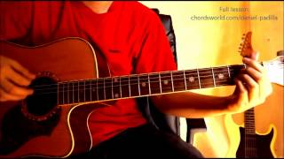 """Nasa Iyo Na Ang Lahat Chords """"Daniel Padilla"""" ChordsWorld.com Guitar Tutorial"""