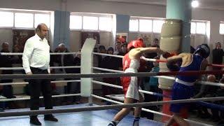 Финал турнира по боксу в юниорах.Boxing.