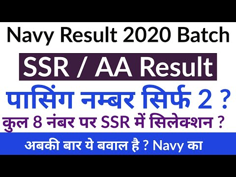 Navy SSR / AA Result Passing Marks & Cutoff _ Must Watch