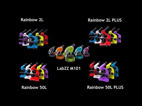 Учебные и детские микроскопы Levenhuk Rainbow и LabZZ: сравнительный видеообзор