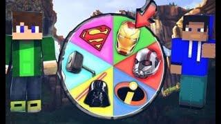 Minecraft ruleta #9 Dokážeš vytočit ty nejlepší SUPERHRDINY SVĚTA V MINECRAFTU? 🎯😱 HULK VS THOR!
