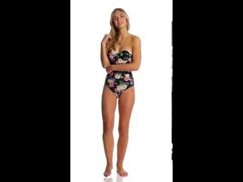 Rhythm Tropics Bustier One Piece Swimsuit | SwimOutlet.com