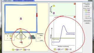 """Demo Of How To Use And Interpret PHET Sim """"Reactions And Rates""""  PART 1"""
