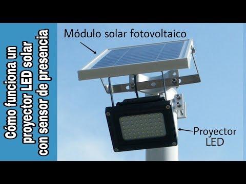 CÓMO FUNCIONA UN FOCO LED SOLAR CON DETECTOR DE PRESENCIA (FAROLA SOLAR)