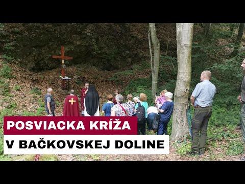 Posviacka dreveného kríža v Bačkovskej doline