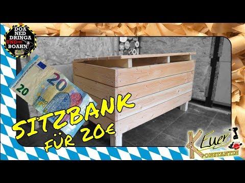 Sitzbank selber bauen für 20€  | Schnell gemacht | DIY Low Budget Projekt
