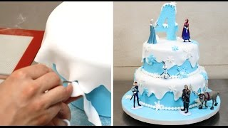 How To Make A WINTER Themed Cake By Cakes StepbyStep