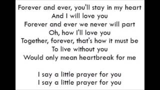 I Say A Little Prayer - Aretha Franklin (Lyrics)