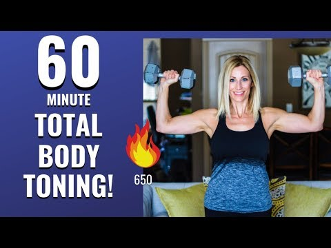 60 MINUTE FULL BODY TONING WORKOUT! Burn Over 650 Calories!???