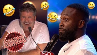 FUNNIEST Comedy Auditions That WON The GOLDEN BUZZER | Amazing Auditions