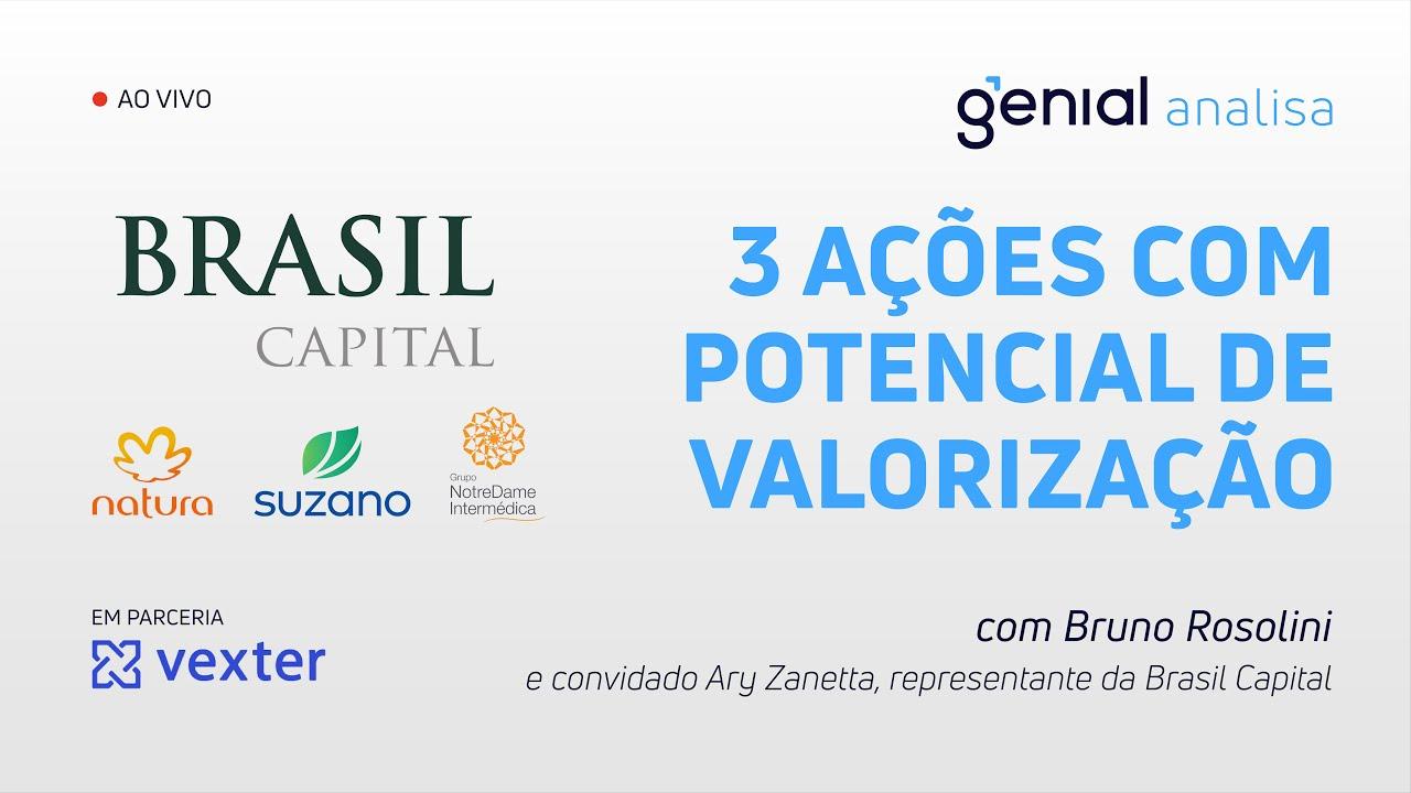 Thumbnail do vídeo: 3 AÇÕES COM GRANDE POTENCIAL DE VALORIZAÇÃO com Brasil Capital | Podcast Genial Analisa