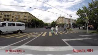 preview picture of video 'Driving Through the Streets of Yerevan (HD) - Aug 5, 2014'