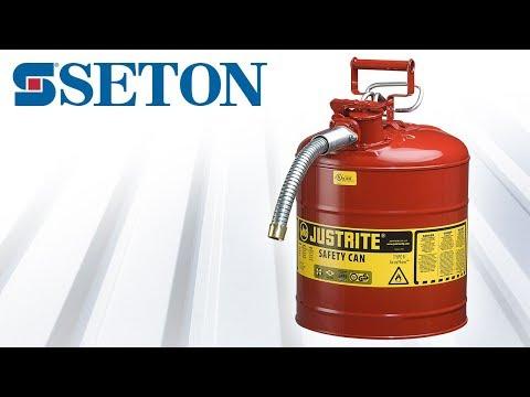 Bidons de sécurité avec robinet pour laboratoires