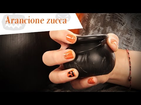 Tutorial nail Art arancione per Halloween