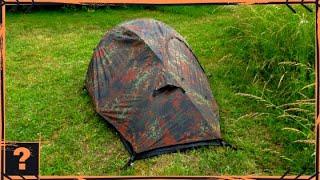 Stealth Camping Einmannzelt von (Recom MilTec zelt Test) 2020