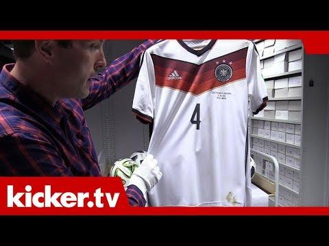 Höwedes-Trikot mit Flecken archiviert - DFB-Schätze im Adidas-Archiv | kicker.tv