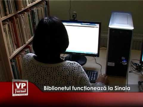 Biblionetul funcţionează la Sinaia