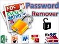 Unlock Microsoft protected files i.e. Excel, Word, PPT, PDF & RAR