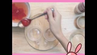 วิธีทำ เยลลี่สตอเบอรี่ลอยแก้ว by Sistacafe