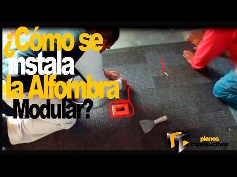 Colocación de alfombra modular