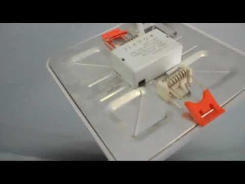 как   устанавливал LED  плафон