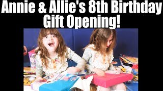 TWINPOSSIBLE 8TH BIRTHDAY GIFT OPENING - WHAT PRESENTS WILL ANNIE & ALLIE GET?