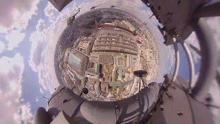Видео 360: Вертолет МИ-8АМТШ на пути к Красной площади